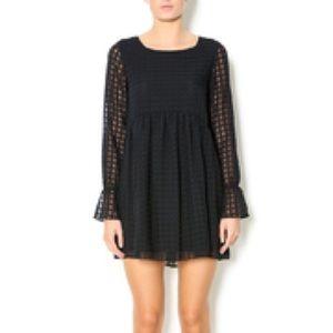 BCBGeneration Black Babydoll Dress